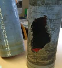 muskrat damaged exhaust